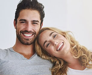 Great looking couple smiling