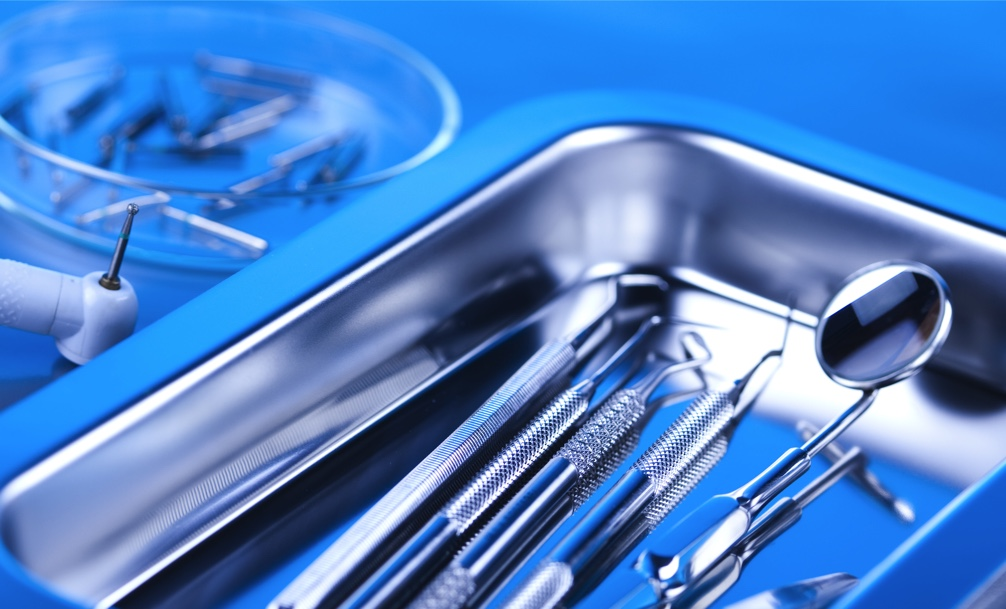 Sterilized dental instruments at dentist in San Antonio